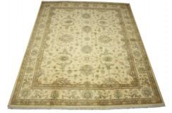 Palmety dywan Ziegler beżowy 100% wełna kamienowana ręcznie tkany 250x300cm