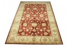 Palmety dywan Ziegler czerwony 100% wełna kamienowana ręcznie tkany 200x300cm