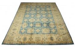 Dywan Ziegler Ariana Klassik niebieski 100% wełna kamienowana ręcznie tkany 270x356 ekskluzywny
