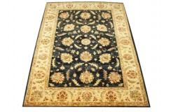Gustowny dywan Ziegler Farahan czarny 100% wełna kamienowana ręcznie tkany 170x230cm