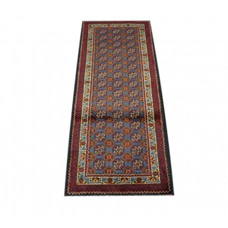 Dywan Afganistan Khuwaje Turkmeński geometryczny Tekke oryginalny 100% wełniany najwyższa jakość 49x128cm