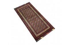 Dywan Afganistan Khuwaje Turkmeński geometryczny Tekke oryginalny 100% wełniany najwyższa jakość 47x105cm