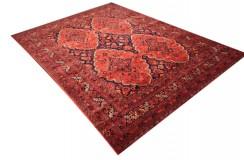 Dywan Afganistan Khuwaje Turkmeński geometryczny Tekke oryginalny 100% wełniany najwyższa jakość 200x280cm
