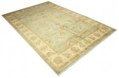 Zielony jasny dywan Ziegler Farahan 100% wełna kamienowana ręcznie tkany ok 200x300cm