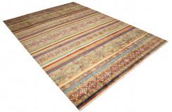 Dywan Ziegler Arijana Shaal 100% wełna kamienowana ręcznie tkany luksusowy 200x300 kolorowy w pasy