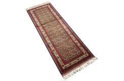 Dywan Afganistan Khuwaje Turkmeński geometryczny Tekke oryginalny 100% wełniany najwyższa jakość 48x139cm chodnik