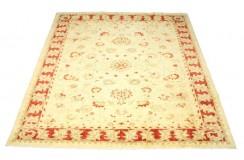 Jasny dywan Ziegler Farahan 100% wełna kamienowana ręcznie tkany ok 250x250cm