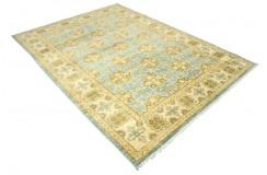 Dywan Ziegler Ariana Klassik niebieski 100% wełna kamienowana ręcznie tkany 160x230cm