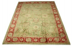 Dywan Ziegler Ariana Klassik zielony 100% wełna kamienowana ręcznie tkany 250x300cm