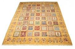 Dywan Ziegler Arijana Shaal Gabbeh w kwatery 100% wełna kamienowana ręcznie tkany luksusowy 250x300 kolorowy w pasy