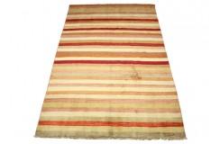 Nowoczesny dywan Ziegler gabbeh 100% wełna kamienowana ręcznie tkany 168x262cm pasy