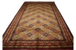 Dywan Afganistan Khuwaje Turkmeński geometryczny Tekke oryginalny 100% wełniany najwyższa jakość ogromy 300x500cm