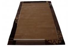 Nowoczesny brązowy dywan 100% akryl 120x180cm grubyLuxor Living Chewas