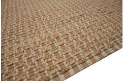 Naturalny dywan wełna czesankowa w warkocze i juta 200x300cm Indie ręcznie wiązany