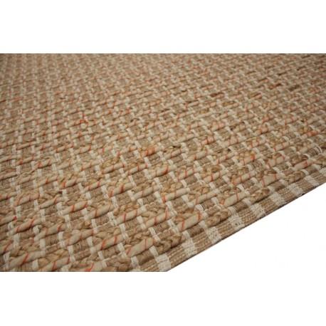 Naturalny dywan wełna czesankowa w warkocze i juta 160x230cm Indie ręcznie wiązany
