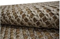 Naturalny dywan wełna czesankowa w warkocze i wodorosty (Seagrass) 160x230cm Indie ręcznie wiązany