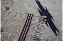 Wełniany chodnik etniczny beżowy subtelny Afganistan 60x270cm