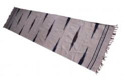 Wełniany kilim chodnik etniczny beżowy Afganistan 60x270cm dywan