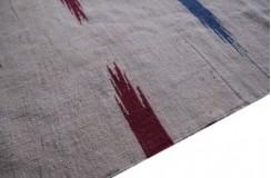 Wełniany kilim chodnik etniczny beżowy Afganistan 60x270cm dwustronny dywan