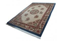 Piękny dywan Aubusson chiński ręcznie tkany 200x300cm 100% wełna rzeźbiony w kwiaty beżowy