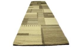 Dywan Luxor Living Gaya Grey 100% wełna owcza i jedwab 80x300cm nepal patchwork beż szary brąz
