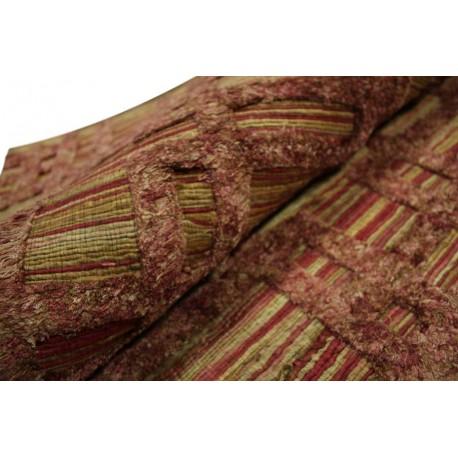 Wytrzymały płasko tkany dywan sznurkowy płasko tkany 160x230cm 100% juta naturalny z jedwabiem (wiskozą) 3D