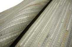 Naturalna skóra bydlęca patchwork Dywan PIXEL 200x300 szary Indie