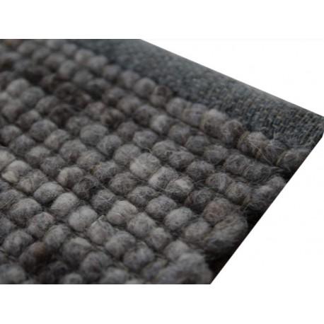 Luksusowy dywan Brinker Carpets Greenland Midnight 228 szary brąz 170x230cm100% wełna owcza 170x230cm dwustronny płasko tkany