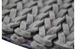 Luksusowy dywan Brinker Carpets Hay 800 szary 170x230cm 100% wełna filcowana warkocze