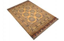 Oryginalny 100% wełniany dywan Afgan Kargahi Buchara 109x140cm ręcznie gęsto tkany