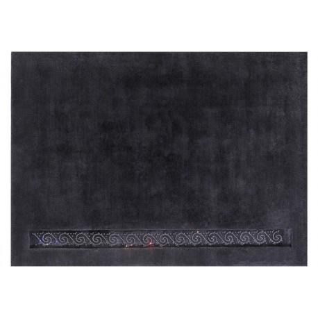 Wart 13 999 zł gładki dywan 170x240cm SWAROVSKI ELEMENTS LUXOR STYLE Royal Grafitowy z MONGOLSKIEJ wełny owczej lux