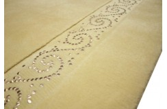 Wart 13 999 zł gładki dywan 170x240cm LUXOR STYLE Rhodium mongolska wełna owcza ekskluzywny