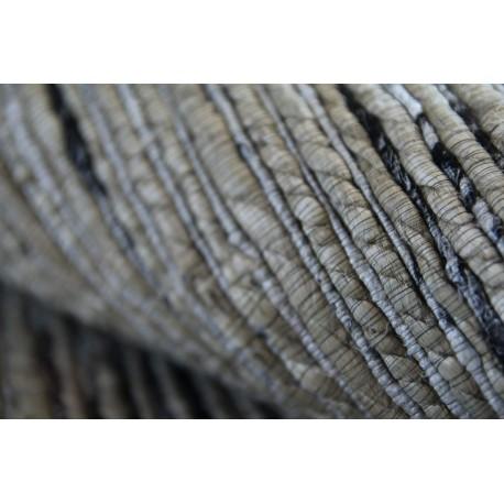 Płasko tkany dywan cieniowany deseń sznurkowy 160x230 beżowy z Indii poliester bawełna