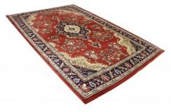 Czerwony piękny dywan Tabriz z Indii ok 200x300cm 100% wełna oryginalny ręcznie tkany perski gruby