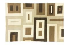 Gęsto tkany wełniany dywan Nepal (Indie) 200x300cm beż szary brąz