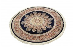 Esfahan - kwiatowy dywan z Chin 100% WEŁNA ręcznie gęsto tkany okrągły 180x180cm