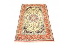 Isfahan - tradycyjny kwiatowy dzieło sztuki z IRANU 100% wełna i jedwab ekskluzywny 160x240cm