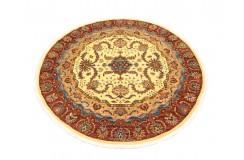 Dywan Ziegler Arijana Shaal 100% wełna kamienowana ręcznie tkany okrągły 170x170cm kolorowy w pasy