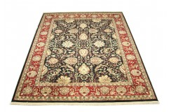 Ciemny klasyczny dywan Tabriz z Indii 200x300cm 100% wełna oryginalny ręcznie tkany perski gruby