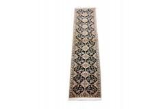 Nain 6la Habibian gęsto ręcznie tkany dywan z Iranu wełna + jedwab ok 50x200cm granatowy majestatyczny