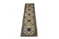 Esfahan - kwiatowy dywan z Chin 100% WEŁNA i jedwab ręcznie gęsto tkany chodnik 80x300cm