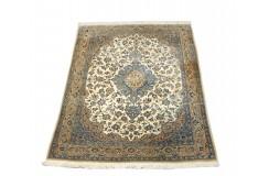 Nain Todeshk 4la gęsto ręcznie tkany dywan z Iranu wełna + jedwab ok 127x190cm beżowy majestatyczny