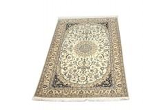 Nain 6la ręcznie tkany dywan z Iranu wełna + jedwab 129x205cm 810 000 wiązań