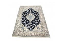 Nain 9la ręcznie tkany dywan z Iranu wełna + jedwab 172x256cm