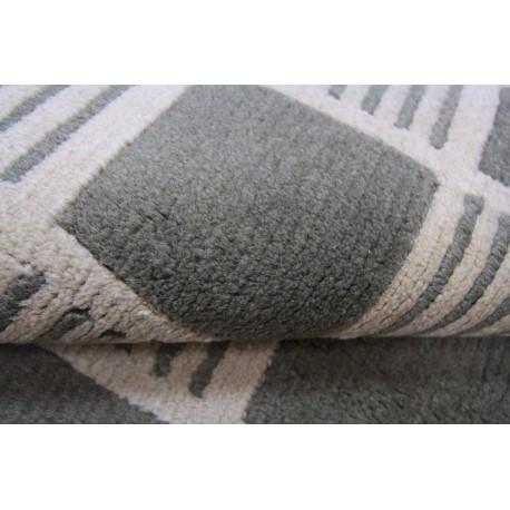 Welniany ręcznie tkany dywan NEPAL 155x245cm geometryczny