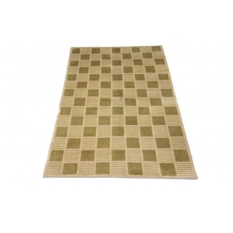 Welniany ręcznie tkany dywan NEPAL 155x245cm geometryczny szary