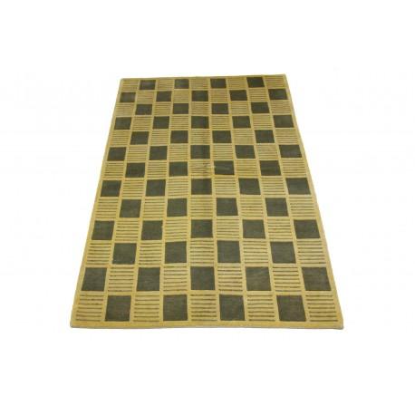 Welniany ręcznie tkany dywan NEPAL 155x245cm geometryczny beżowy