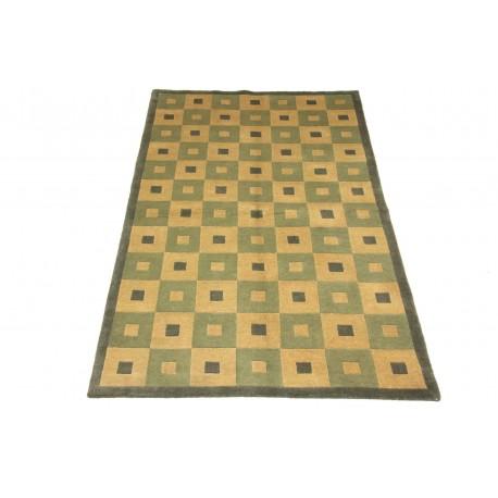 Welniany ręcznie tkany dywan NEPAL 155x245cm geometryczny dwukolorowy