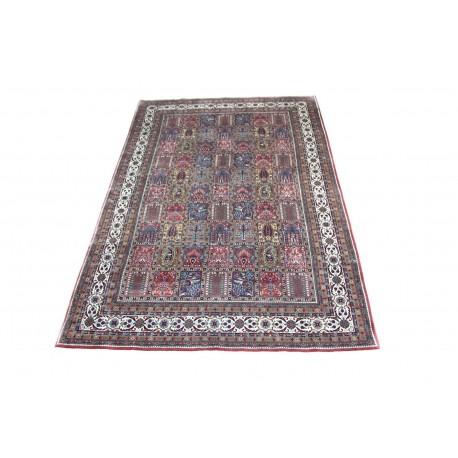 Ciemny klasyczny dywan Baktjar z Indii 200x300cm 100% wełna (Indo-Baktjar) w kwatery