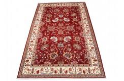 Dywan Ziegler Arijana Klassik czerwony 100% wełna kamienowana ręcznie tkany 205x311cm ekskluzywny